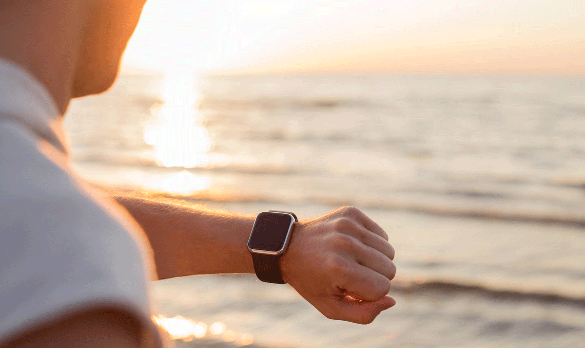 Man-Looking-at-Smartwatch